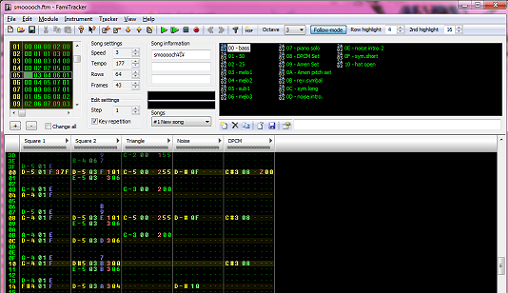 Famitracker en acción